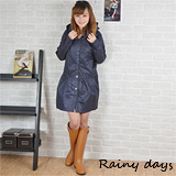 【Rainy days】歐式公主風裙擺風雨衣/風衣/雨衣 (106藍色)