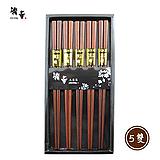 精華工藝筷無染色黑檀木筷5雙入