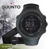 【芬蘭 SUUNTO】AMBIT3 SPORT BLACK (HR) GPS 運動款 全功能戶外運動錶 黑