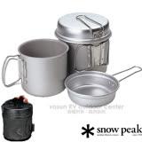 日本 Snow Peak Trek Combo 鋁合金鍋組 1400ml + 900ml.2鍋2蓋4件組 SCS-010