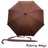 【Rainy days】戶外型大傘面揹帶抗風防潑自動直傘(咖啡)