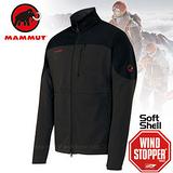 【瑞士 MAMMUT 長毛象】Ultimate Jacket 男款 Windstopper 防風抗磨保暖彈性軟殼外套 黑 14920-0126