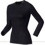 【瑞士ODLO 】X-WARM Effect《背部加強》保暖升級 女機能型銀離子超保暖內衣.長袖排汗衣.衛生衣.透氣.吸濕/黑.155161