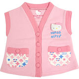 【BabyTiger虎兒寶】三麗鷗 HELLO KITTY 日式和風花布雙口袋背心