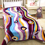 戀香 細絨保暖中毛毯-幾何紫