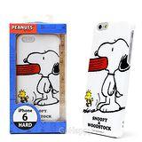日本進口PEANUTS【Snoopy與塔克吃大餐】iphone6硬式手機背蓋