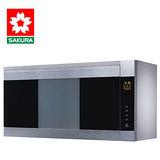 SAKURA櫻花 雙殺菌烘碗機90公分銀色 Q-7580SXL 送安裝