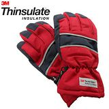 3M Thinsulate 保暖防水反光手套(適用女性/青少年) 紅/藍
