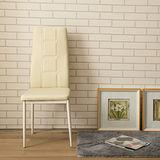 【Jiachu 佳櫥世界】Hulda胡爾達高背簡約餐椅(共二色)