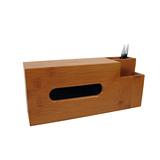 竹製多功能面紙置物盒
