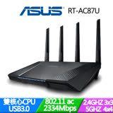 ASUS華碩 RT-AC87U雙頻 Wireless-AC2400 Gigabit 分享器