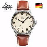 朗坤LACO 夜光海洋機械錶-白 861651
