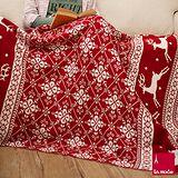 La Mode寢飾 Xmas針織披毯(麋鹿紅)