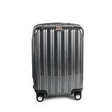 MOM JAPAN 日本品牌 24吋 PC輕量鏡面直線條飛機輪旅行箱 髮絲黑 MF5008-24-BK