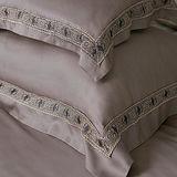 義大利La Belle《查理國王》加大天絲蕾絲四件式防蹣抗菌舖棉兩用被床包組