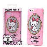 日本限定SANRIO【嬌羞KITTY】iphone6軟式手機背蓋
