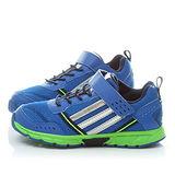 Adidas 中大童 超輕量魔鬼氈運動鞋M20404-藍