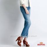 【BRAPPERS】 女款 Boy Firend Jeans 系列-女用彈性直統褲-淺藍
