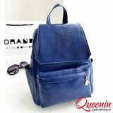DF Queenin- 韓流Sica個性感皮革式後背包-共3色