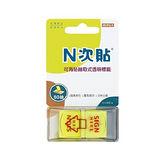 【N次貼】66015 螢光黃 SIGN HERE 抽取式標籤/memo/便條紙 (50張/包)
