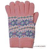 Lavender-閃耀雪花雙層手套-粉紅