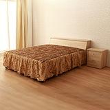 【LOHA】品味生活5尺雙人床組三件式-床頭箱+床底+邊櫃(共四色)