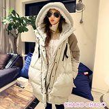 預購【CHACO韓國】NANING9大毛絨連帽厚款立領羽絨禦寒長外套(2色)