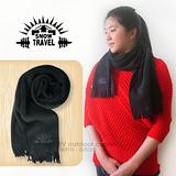 【SNOW TRAVEL】高級保暖透氣圍巾/下擺流蘇設計.高透氣.保暖/經典黑 VO-30