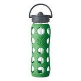美國唯樂Lifefactory 彩色玻璃水瓶-吸管650ml草綠(LF234041)