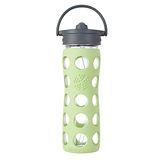 美國唯樂Lifefactory 彩色玻璃水瓶-吸管450ml淺綠 LF224044