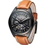 HAMILTON 卡其鏤空野戰機械腕錶 H72585535