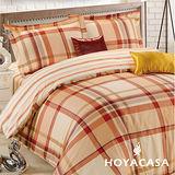 《HOYACASA心靈之窗》雙人四件式純棉兩用被床包組