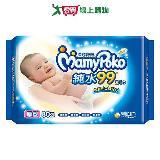 滿意寶寶天生柔嫩濕毛巾補充包(柔棉厚型)80 張)