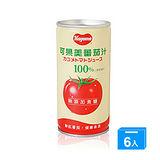 可果美無鹽蕃茄汁190ml*6入╱組