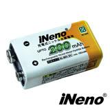 日本技研 iNeno 艾耐諾 9V/200mAh 鎳氫充電電池1入