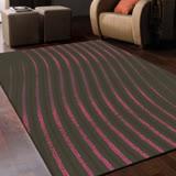 【范登伯格】卡莫-跳耀紅活潑線條設計進口高質感仿羊毛超大地毯-200X290cm
