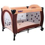 EMC 嬰幼兒安全遊戲床(幸運咖啡)+雙層架+尿布台