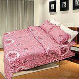 名流寢飾 天絲兩用被床包組-玫瑰風華 雙人特大6*7尺