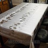 銀花壓紋金屬桌巾(長180cmX寬137cm) RN-PW224-001-05
