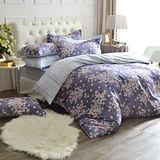 MONTAGUT-夜語芬芳-高密度精梳棉-雙人四件式薄被套床包組