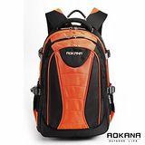 AOKANA奧卡納 台灣扣具 輕量防潑水護脊紓壓機能後背包(橘/黑)68-076