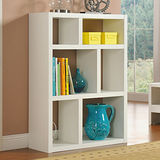 【Yomei】創意六格展示櫃/書櫃/收納櫃/隔間櫃(白色)