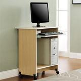 【Yomei】DIY輕巧附鍵盤架電腦桌/工作桌/書桌(白橡色)
