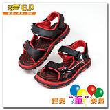 【G.P】親子同樂(31-35尺碼)-磁扣兩用涼鞋G5929B-14(黑紅色)共三色