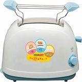 【KRIA可利亞】烘烤二用笑臉麵包機 KR-8002(藍色)