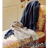Sunlead 日系保暖輕柔寬版純色防寒披肩/圍巾/蓋毯