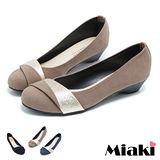 【Miaki】MIT 甜心簡約包鞋 百搭低跟平底鞋 (藍色 / 棕色 / 黑色)