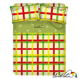 【Arnold Palmer雨傘牌】田園交響曲-40紗精梳純棉床包被套雙人四件組.