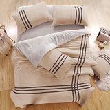 生活提案 C羅 珊瑚絨單人三件式被套床包組