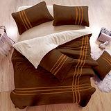 生活提案 衝浪沙灘 珊瑚絨雙人四件式被套床包組